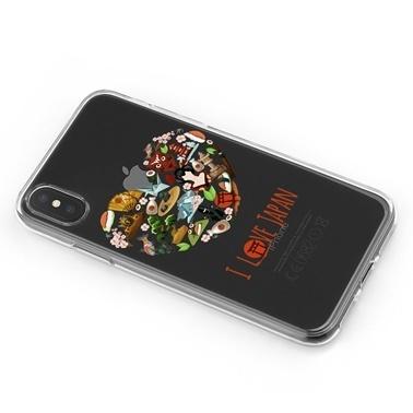 Lopard iPhone Xs Max Kılıf Silikon Arka Koruma Kapak Japonyayı Seviyorum Desenli Renkli